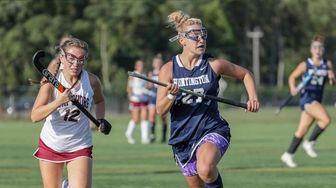 Huntington's Megan Byrnes #27 and Bay Shore's Isabella