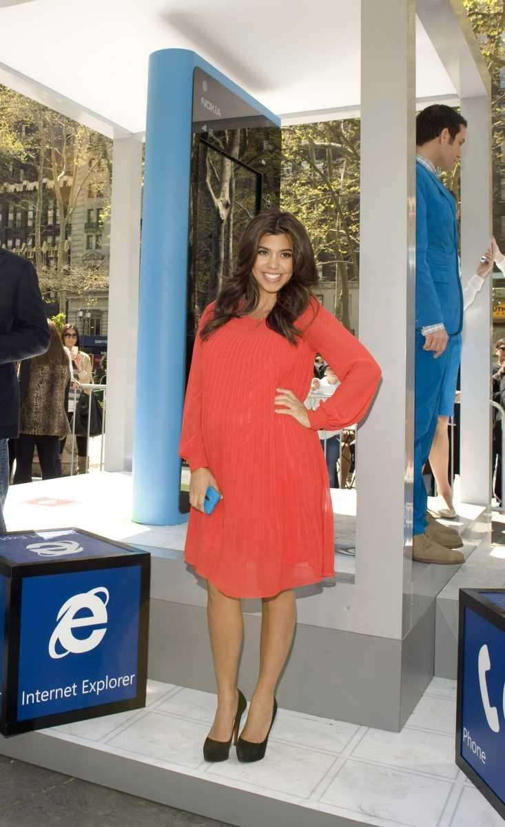 Kourtney Kardashian attends the Windows Phone Free-Time Machine