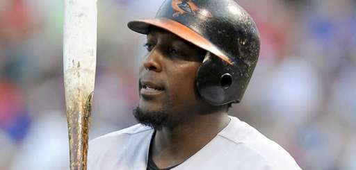 Baltimore Orioles designated hitter Vladimir Guerrero during an