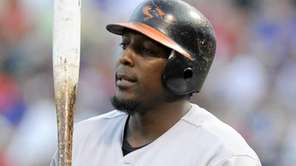 Baltimore Orioles designated hitter Vladimir Guerrero during an
