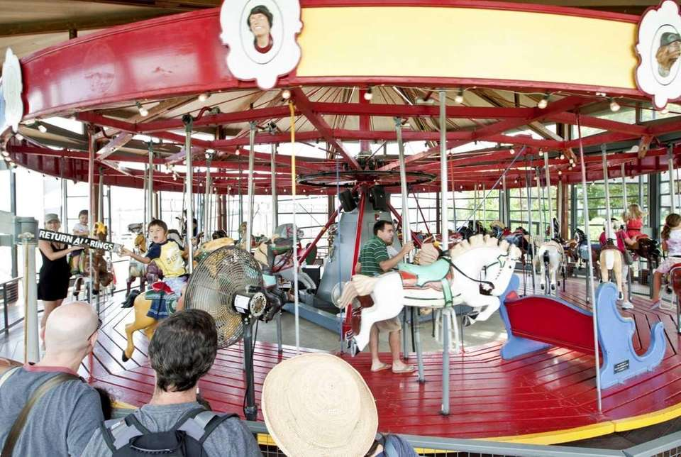 Take a spin on the Greenport Carousel Check