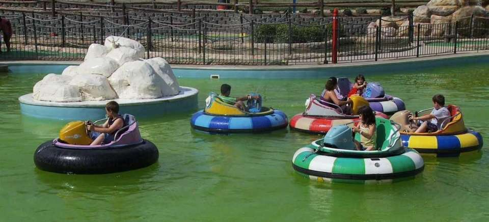 Ride the bumper boats at Boomers Family Fun