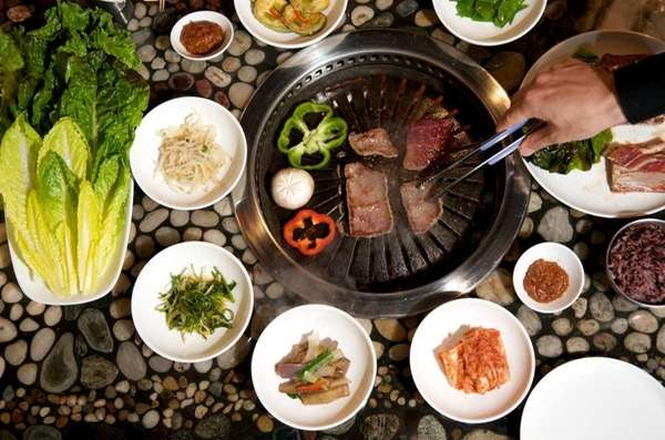 Ssambap korean bbq newsday - How to build a korean bbq table ...