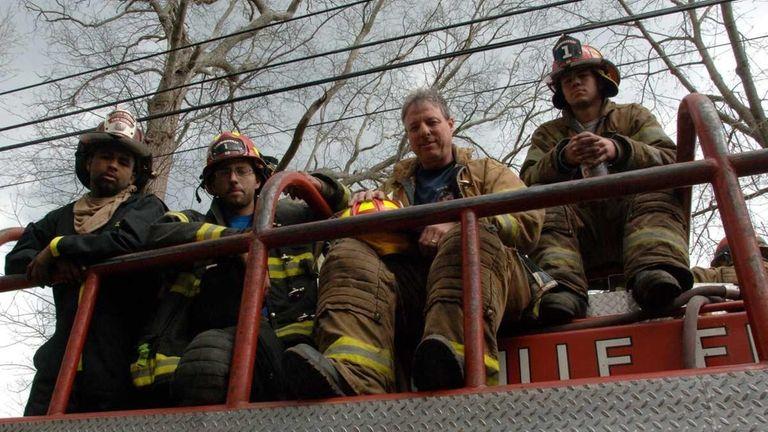 Farmingville fire department members Dominic Russo, 28, Chris