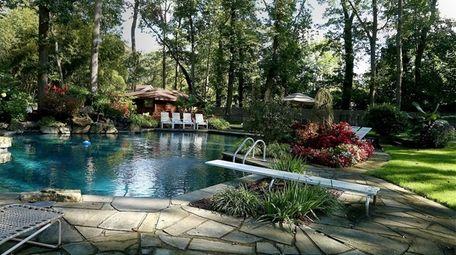 The DiGiovanna family's Dix Hills backyard.