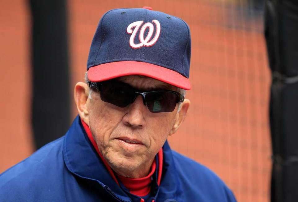 Manager Davey Johnson of the Washington Nationals looks