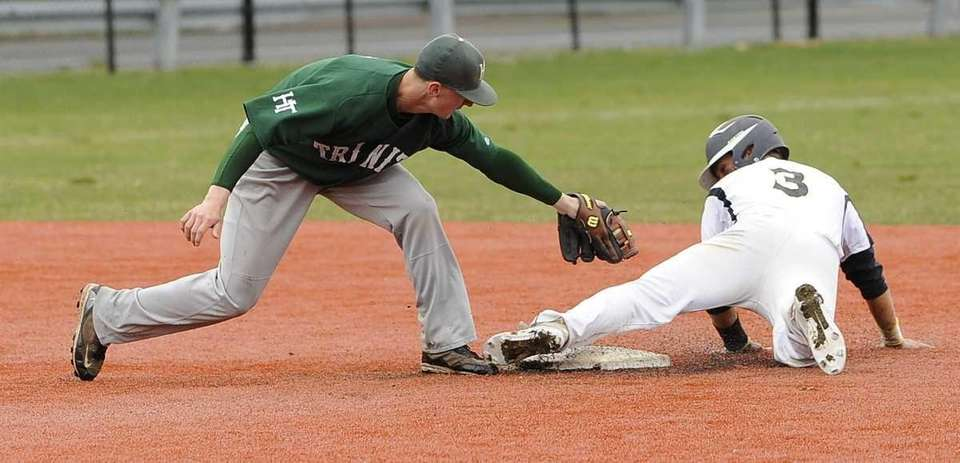 St. Anthony's Alexander Masotto steals second base ahead