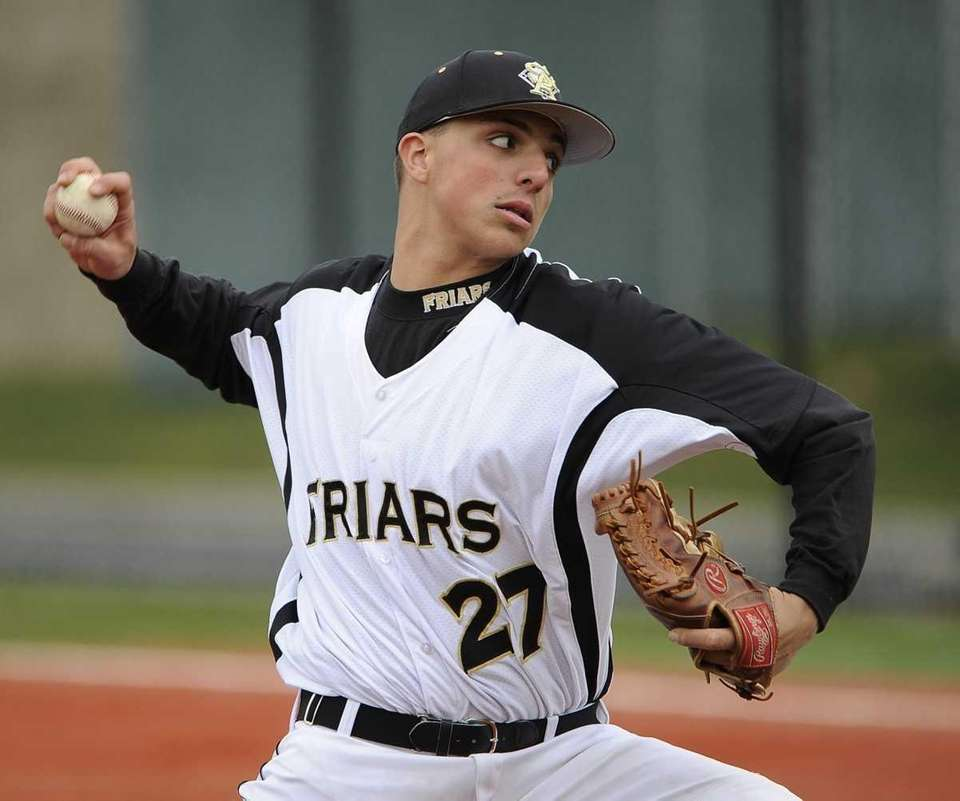 St. Anthony's pitcher John Parisi throws against Holy