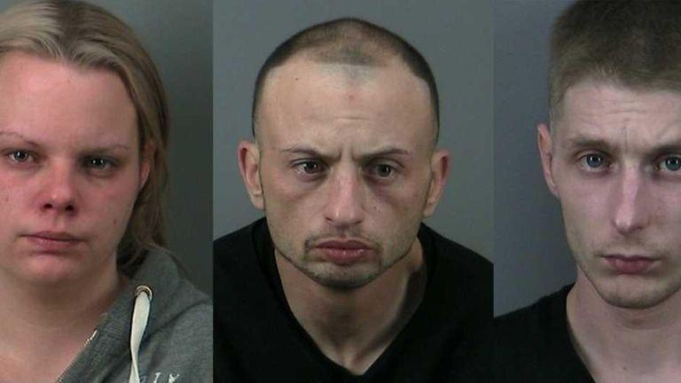 From left, Amanda Muhs, 29, Ryan Novick, 31,