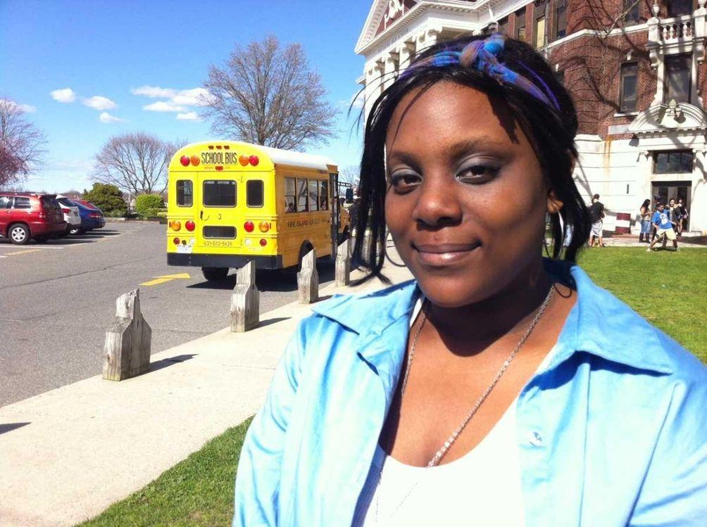 Christina Richardson, a student at Bay Shore High