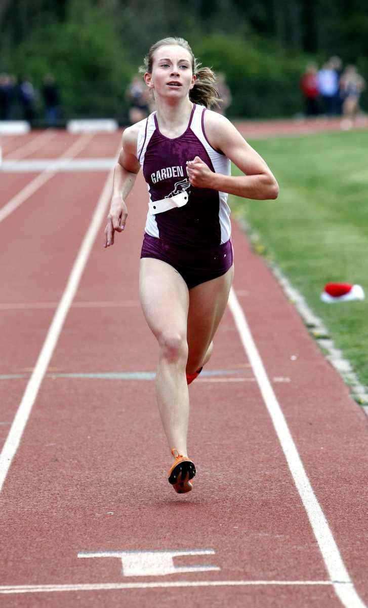 Garden City's Jen Gerland finishes first in the