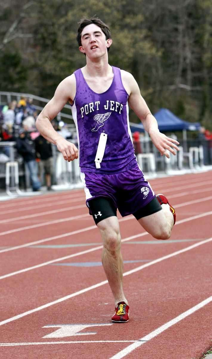Port Jefferson's James Burke finishes second in the