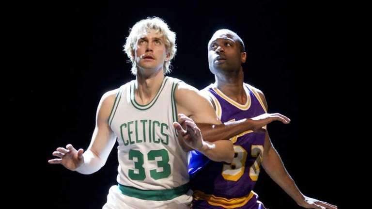 Tug Coker, as Larry Bird, left, and Kevin