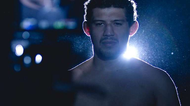 Gilbert Melendez during a photo shoot to promote
