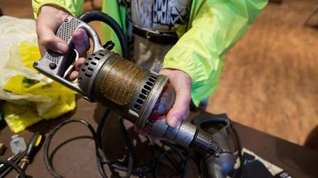 One of the power drills Irvin Fritzhand, 83,