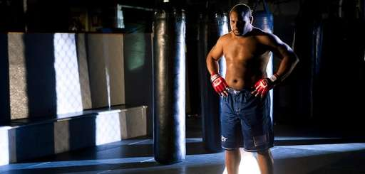 Daniel Cormier during a photo shoot to promote
