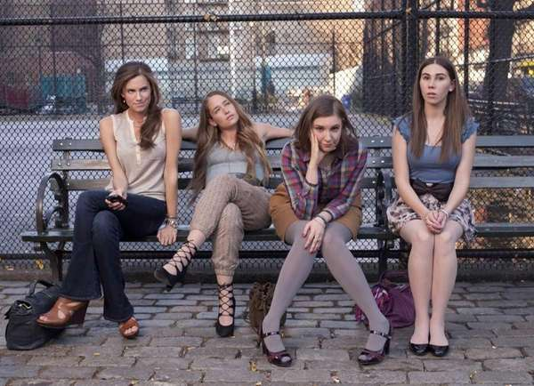 From left, Allison Williams, Jemima Kirke, Lena Dunham
