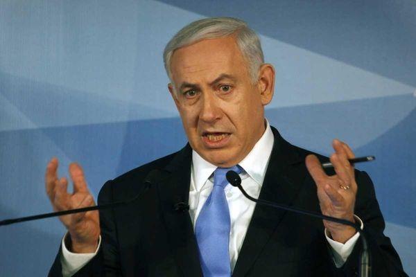 Israeli Prime Minister Benjamin Netanyahu gestures during a