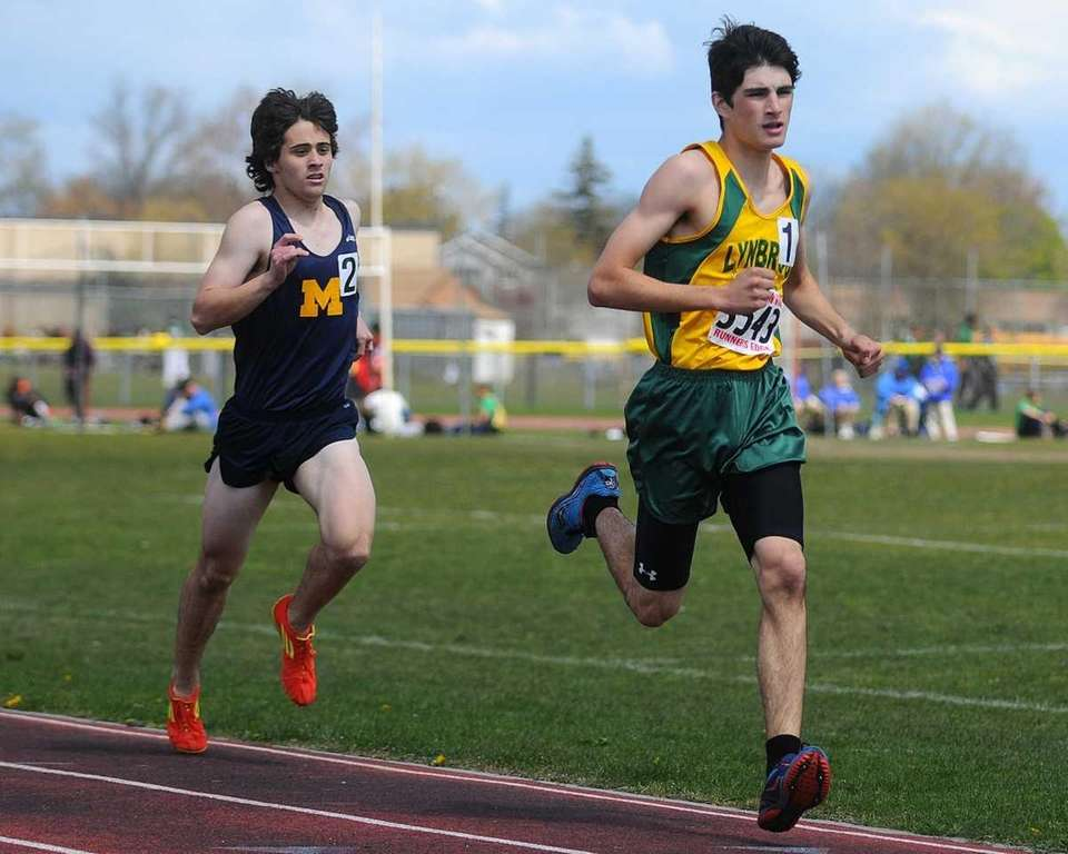 Lynbrook High School junior Jesse Bua, right, and