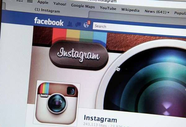 In this photo illustration, the photo-sharing app Instagram