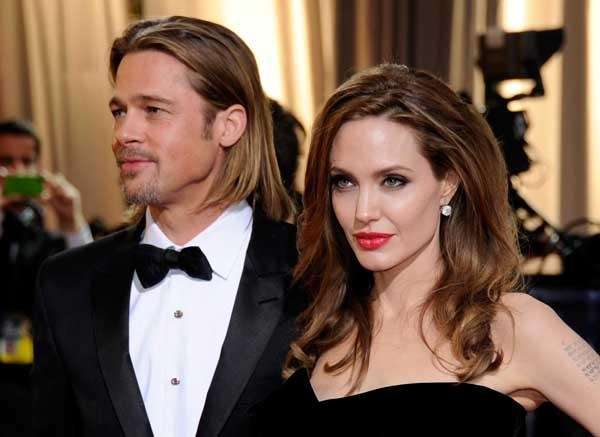 Brad Pitt and Angelina Jolie at the 84th