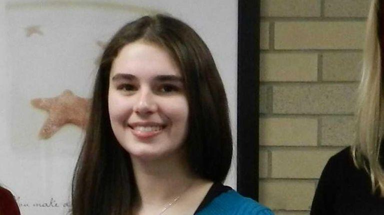 Natalie Gramegna, a sophomore at Massapequa High School,