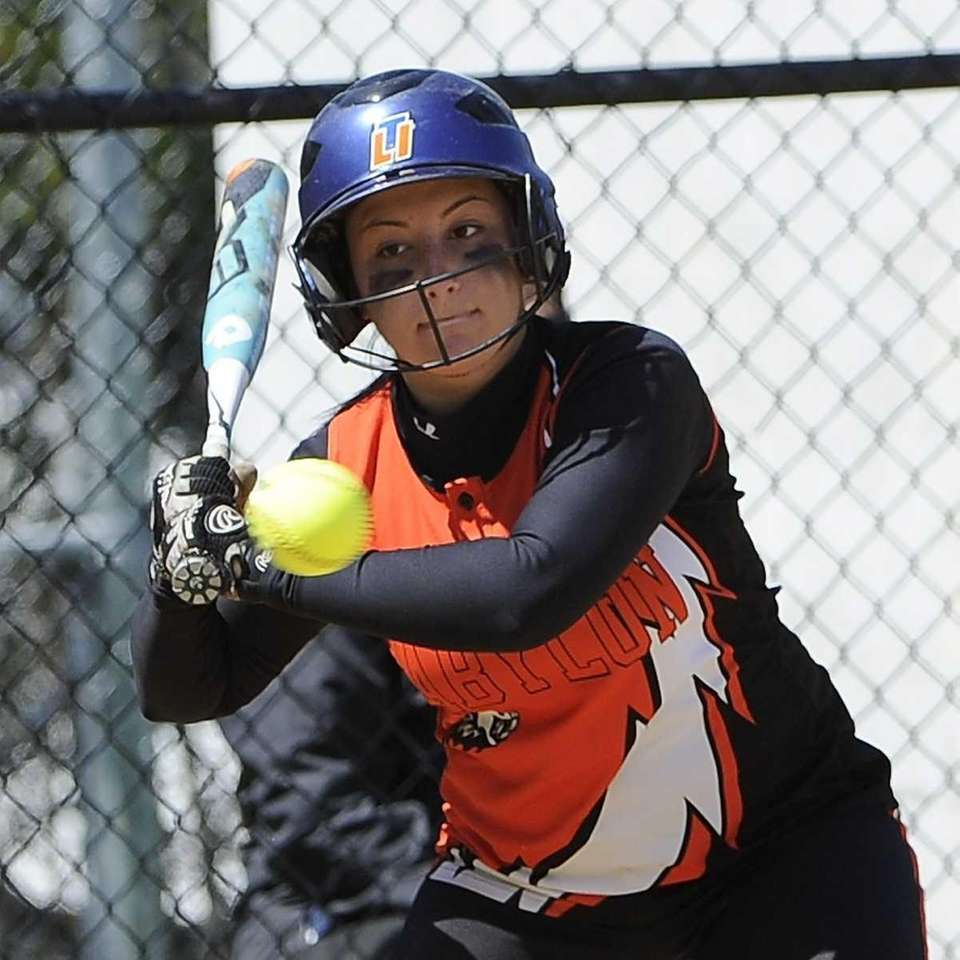 Babylon's Tiana Giuliano watches a pitch in the