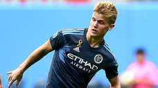 Keaton Parks of New York City FC controls