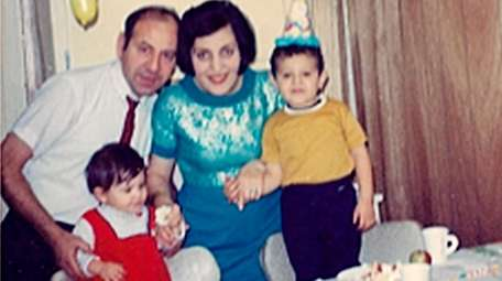 Mustafa and Guler Turhan with their children, Filiz,