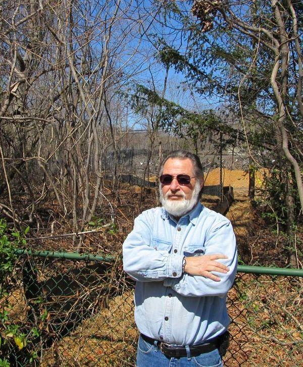 John Degnan in the backyard of his Sayville