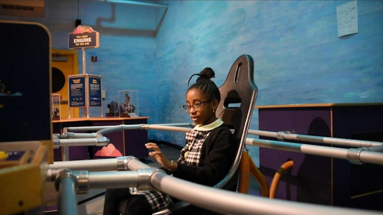 Students form Charter Academy in Uniondale preview the