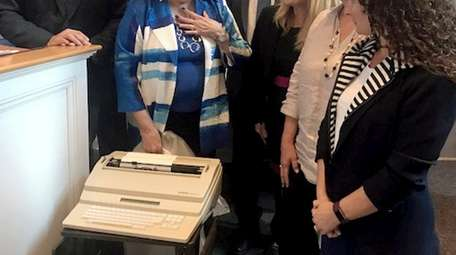 A 10-year-old electric Brother typewriter has been donated