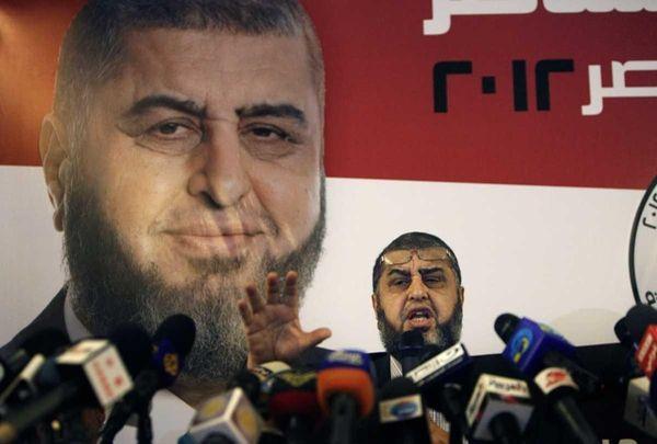 Egypt's Muslim Brotherhood presidential candidate Khairat el-Shater talks