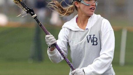 West Babylon's Christina Esposito at practice. (April 11,