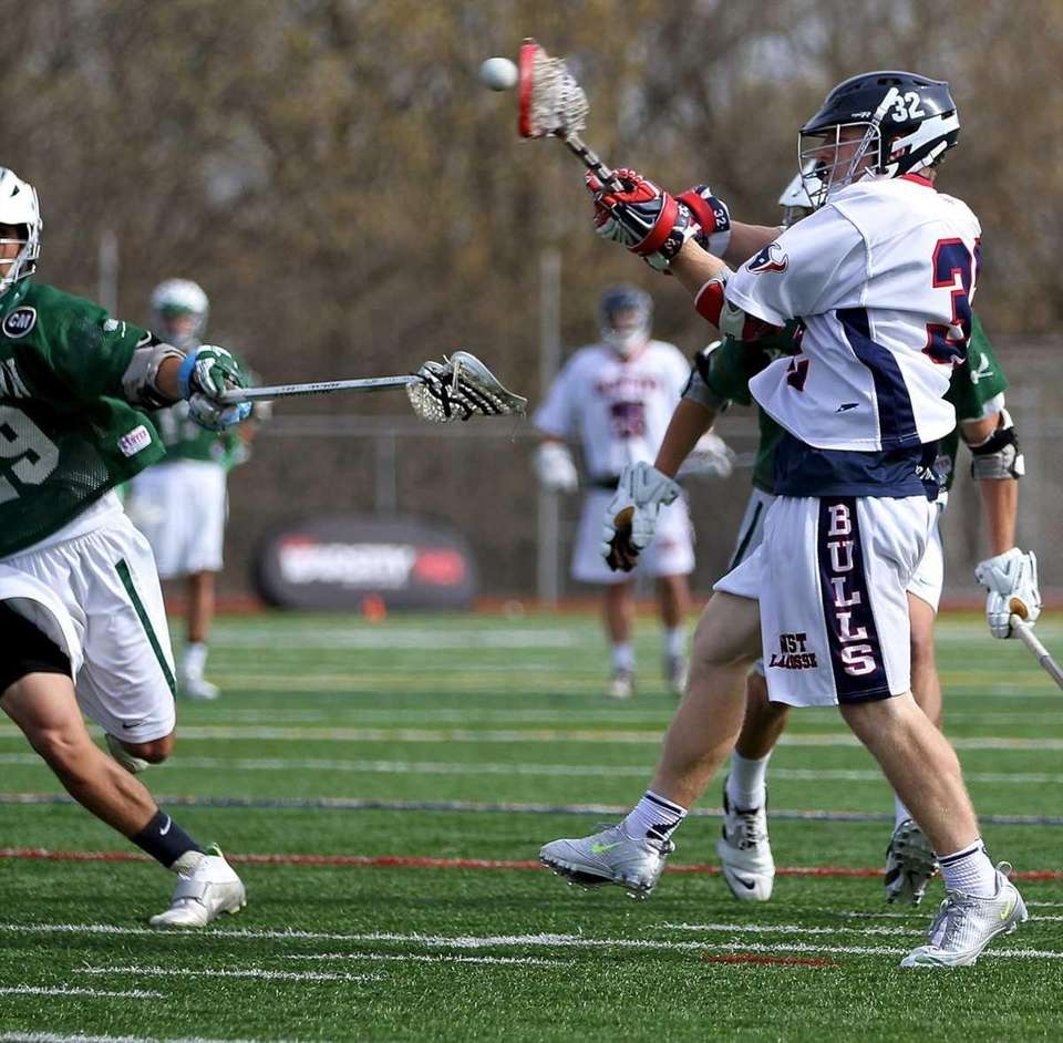 Smithtown West's James Pannell puts a shot on