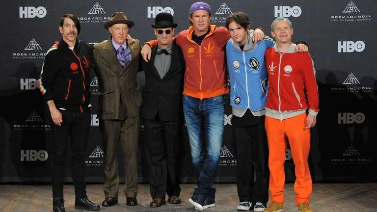 The Red Hot Chili Peppers during the 27th