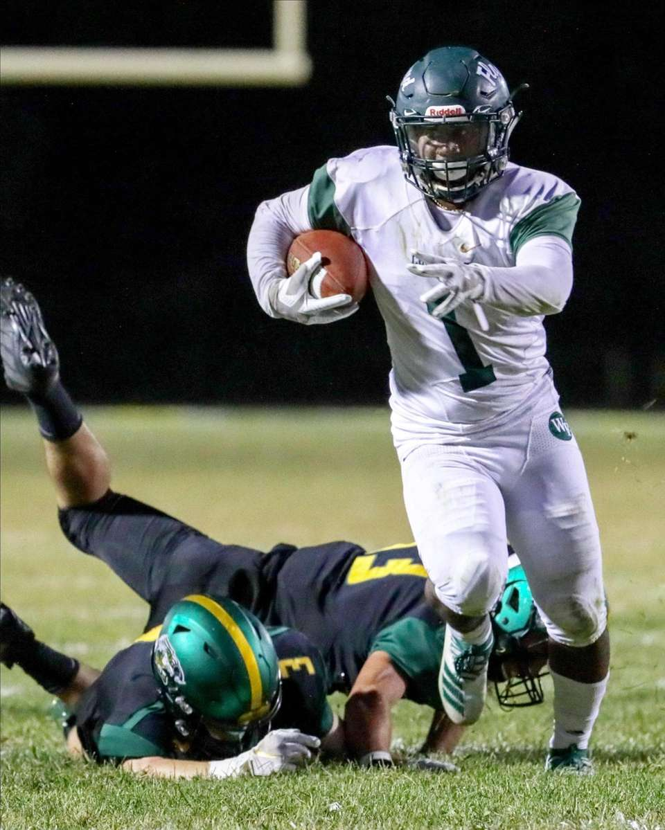 William Floyd's Tyshawn Lopez #1 breaks tackles and