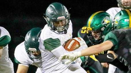 William Floyd's Tyshawn Lopez #1 carries the ball