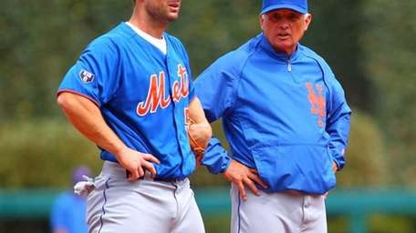 David Wright and manager Terry Collins of the