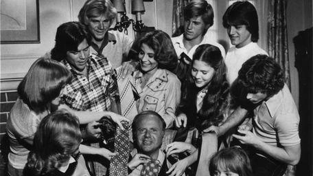 Dick Van Patten and children in