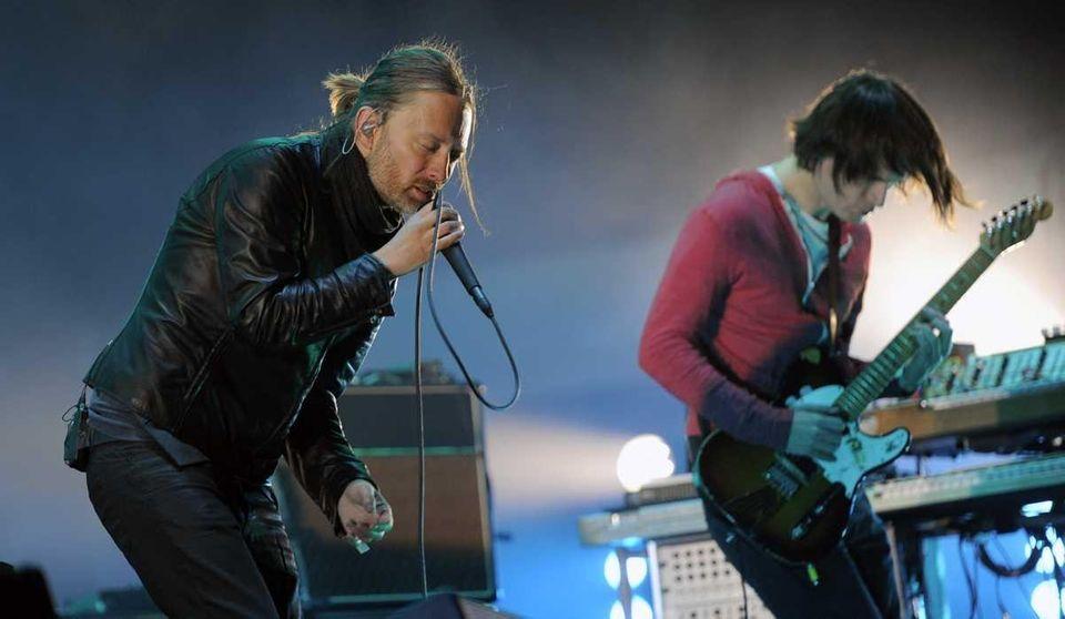 Thom Yorke, left, and Jonny Greenwood of Radiohead