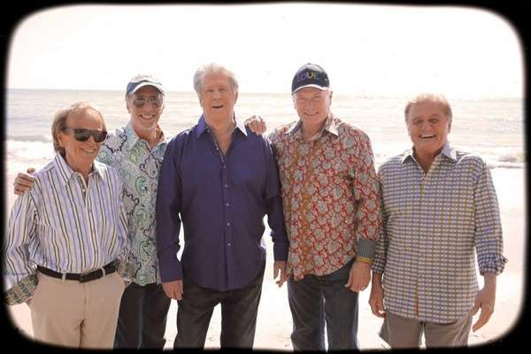 The Beach Boys reunite with Brian Wilson, center,