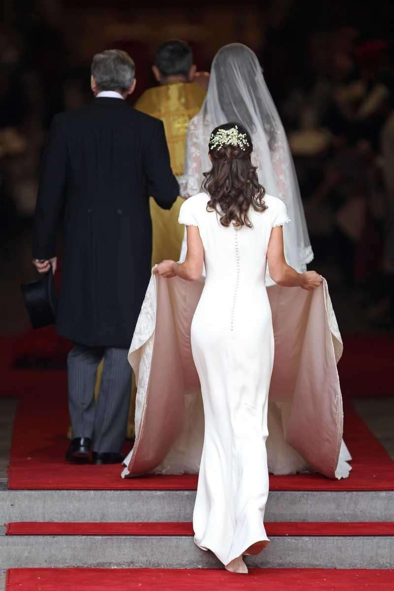 Maid of honor Pippa Middleton follows her sister