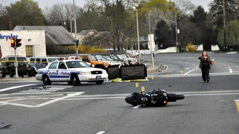 A motorcyclist was killed in a collision in