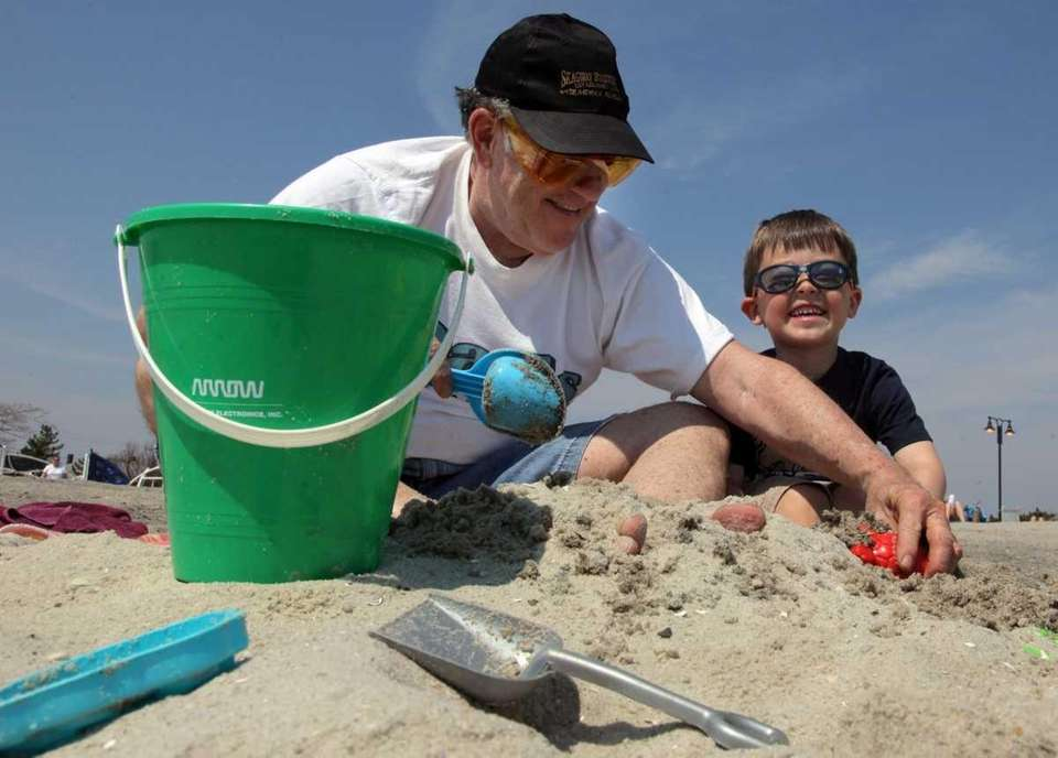 Larry Roth, of Brightwaters, and his grandson, Ben