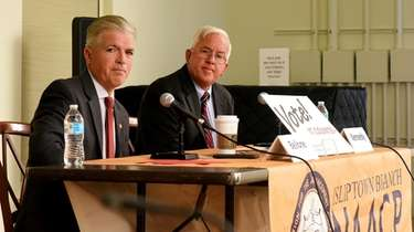 Incumbent Suffolk County Executive Steve Bellone and his