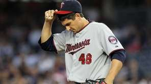 Carl Pavano #48 of the Minnesota Twins in