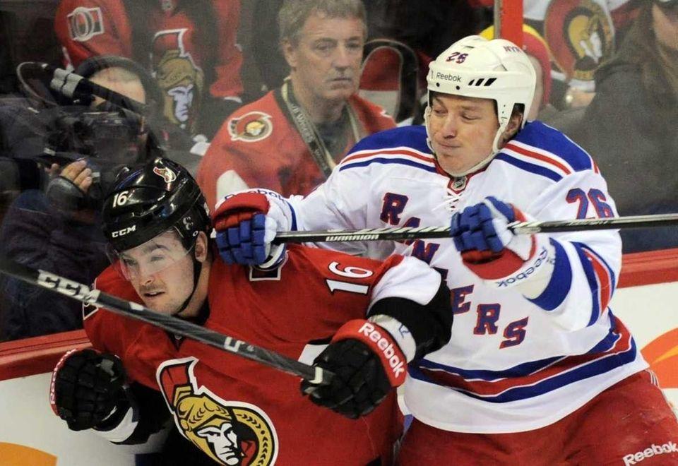 Ottawa Senators' Bobby Butler gets hit from behind