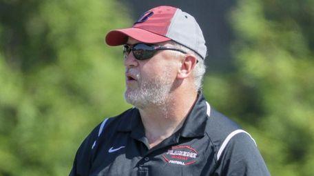 Plainedge head coach Rob Shaver watches the team