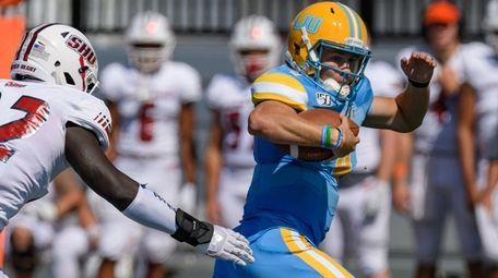 LIU quarterback Clay Beathard gets into full stride